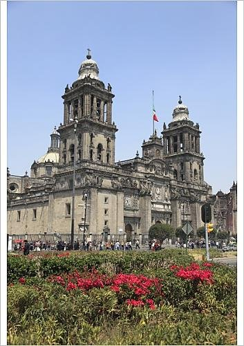 Poster Plaza de Robert church Zocalo Harding Metropolitan of America in Latin 7386369 largest A1 the Cathedral BBnfqET6