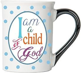I Am A Child Of God Mug, Inspirational Coffee Cup, Inspirational Mug, Ceramic Mug, Custom Inspirational Gifts By Tumbleweed