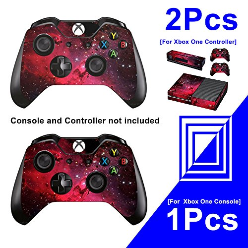 eSeeking Whole Body Vinyl Skin Sticker Decal Cover for Microsoft Xbox One Console Red Galaxy Nebular