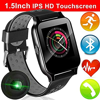Fitness Tracker Smart Watch for Women Men Kid with Heart Rate Blood Pressure Monitor Summer Activity Run Outdoor Sports Watch GPS Tracker Pedometer Calorie Sync Phone for Android iOS