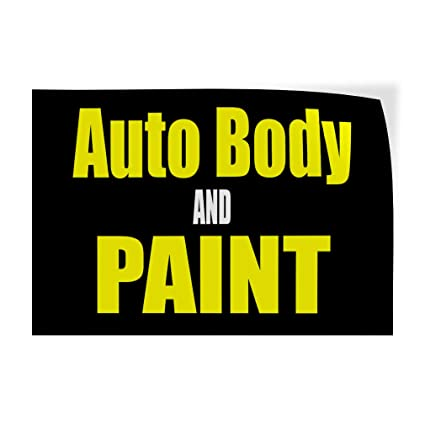 Amazon Com Decal Sticker Auto Body And Paint Car Body Shop