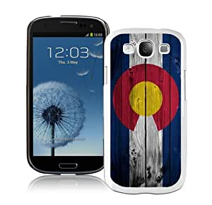 Dark Colorado Flag on wood White Case Cover for Samsung Galaxy S3 i9300 Grace and Cool Design