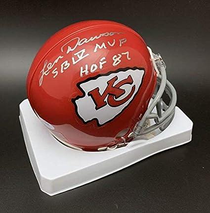 1a889e9d7 Len Dawson Autographed Mini Helmet - + HOF 87 - PSA DNA Certified -  Autographed