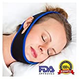 Anti Snoring Chin Strap Devices - Snoring Solution Gently Supports The Jaw Keeping Mouth Closed - Stops Snoring and Dry Mouth - Anti-Snoring Device for Sleep - Quality for All Night Comfort