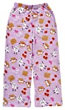 iscream Big Girls Fun Print Silky Soft Plush Pants - S'More 2 Love, Small