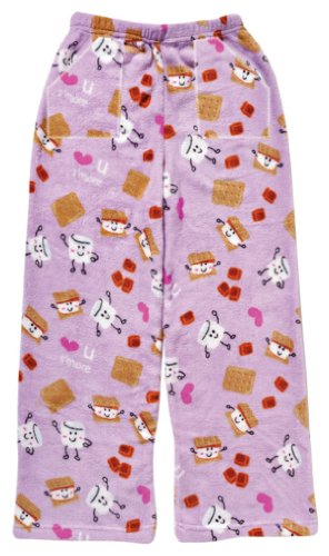 iscream Big Girls Fun Print Silky Soft Plush Pants - S'More 2 Love, Small by iscream