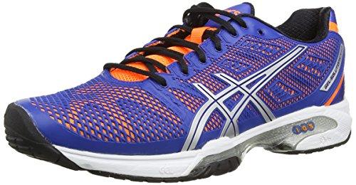ASICS Gel-Solution Speed 2 - Zapatillas de deporte para hombre Azul (Blue / Flash Orange / Silver 4230)