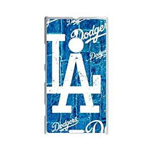 Forever Collectibles Los Angeles Dodgers Rugged Dual Hybrid Custom Case for Nokia Lumia 1520
