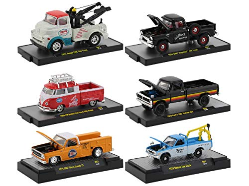 Auto Shows 6 Piece Set Release 61 in Display Cases 1/64 Diecast Model Cars by M2 Machines 32500-61