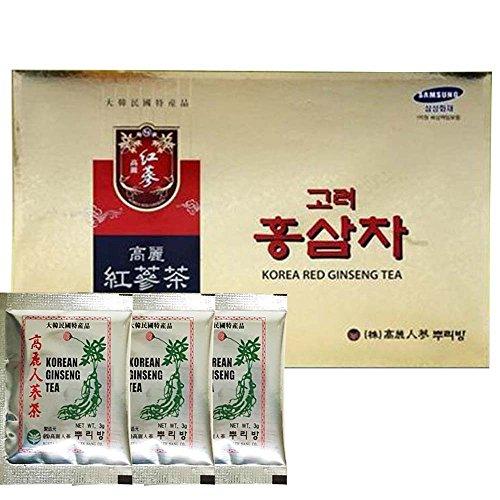 Original Korean Red Ginseng Tea 0.1oz(3g) 100 Packets with Korean Ginseng Tea 0.1oz(3g) 3 Packets