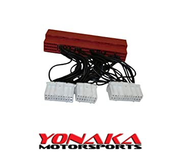 Yonaka Compatible with Honda/Acura OBD2B to OBD1 Plug and Play Jumper on