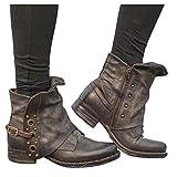 Dainzuy Women PU Leather Zipper Ankle Boots