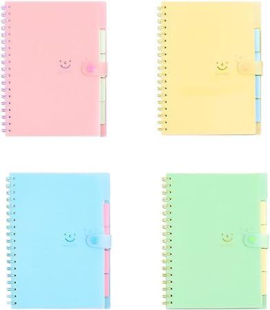 NUOLUX Pack de 4 Cuaderno de kraft cuadernos espiral de Bocetos ...