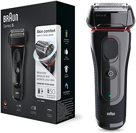 Braun 5030 Series 5 - Afeitadora Eléctrica Hombre, Afeitadora Barba, Recortador de Precisión Extraíble, Recargable e ...
