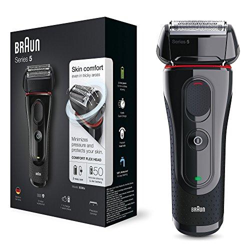 Braun 5030 Series 5 – Afeitadora Eléctrica Hombre, Afeitadora Barba, Recortador de Precisión Extraíble, Recargable e…
