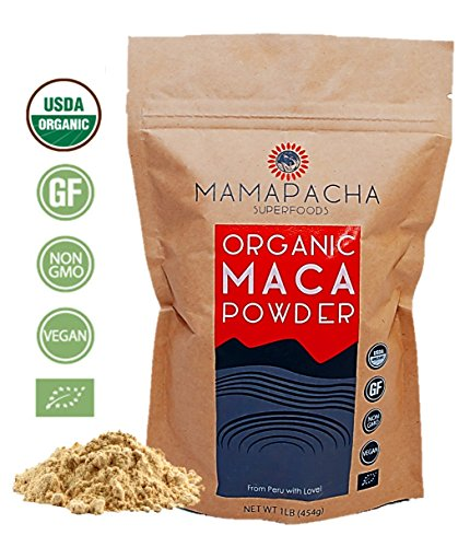 Maca Powder Organic Raw 1LB (454g) – 100% USDA and Vegan Certified Premium Peruvian Yellow Maca Root Powder. Supports hormonal, gut and immune health – Perfect for Smoothies and Baking Review