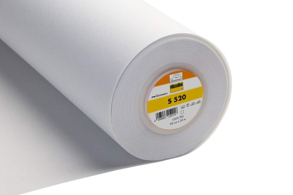 White Vilene Iron-on Pelmet Interfacing S520 30cm Per Metre