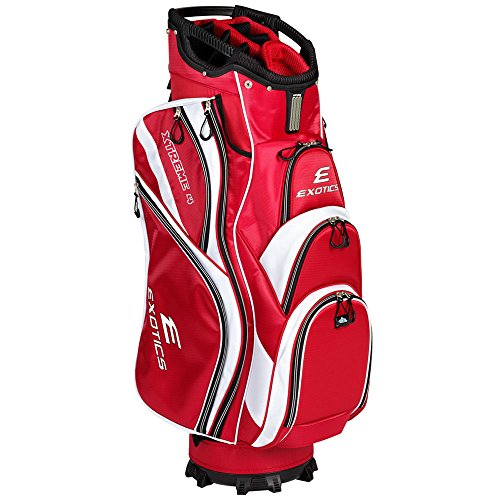 Tour Edge Exotics Extreme 4 Cart Bag 2018 Red/White by Tour Edge