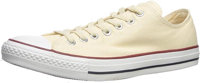 Converse Chucks (Chuck Taylor) All Star Ox Low Tops Unisex Damen Herren Beige (Natürliches Weiß ungebleicht)