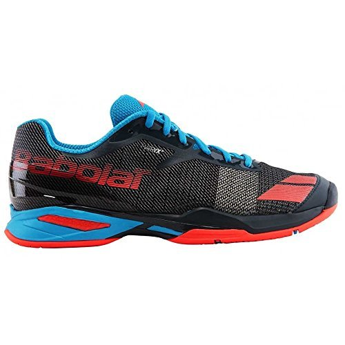 Babolat Junior Jet All Court Tennis Shoe. Grey/Red/Blue (2.0)