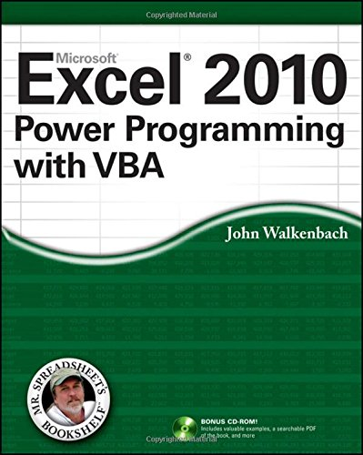 Excel 2010 Power Programming with VBA by imusti