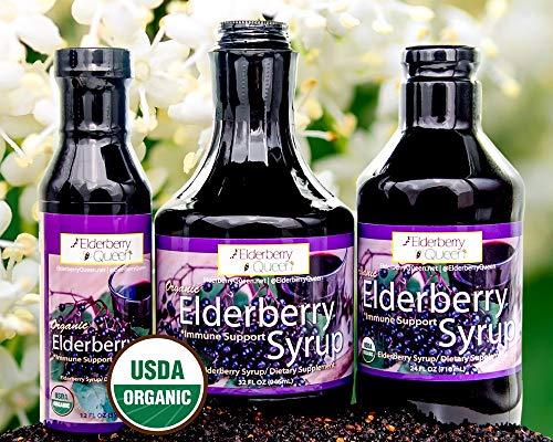 Organic Elderberry Liquid Syrup by Elderberry Queen- Sambucus, Aronia Berry, Pure Natural Certified Organic Immune Support Herbal Supplement (32oz) by Elderberry Queen (Image #7)