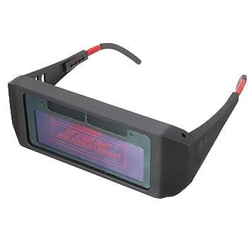zhouba Auto oscurecimiento soldadura casco máscara gafas solares Soldador gafas de ojos herramienta talla única negro: Amazon.es: Hogar
