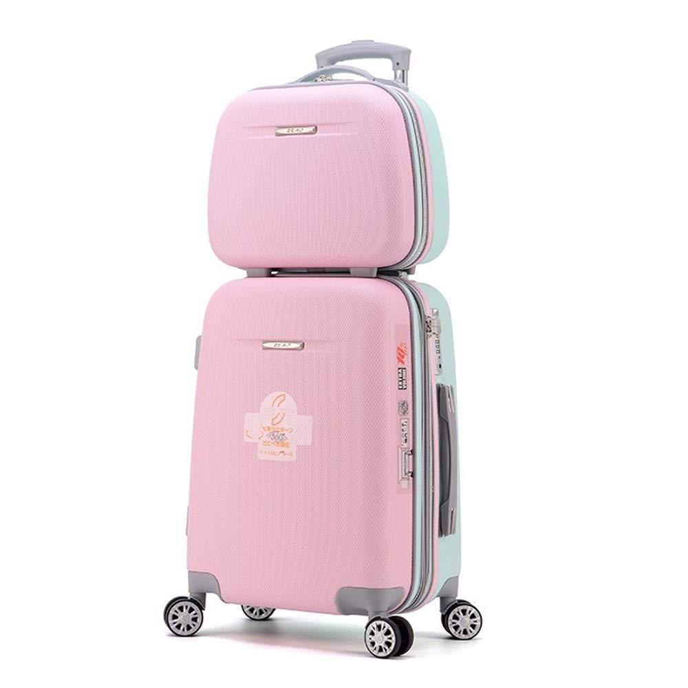 荷物の女性の小さいトロリー箱、18インチのスーツケース。子供用パスワードボックス学生用ボックス (Color : Pink, Size : 18 inch) B07SXRTQPM Pink 18 inch