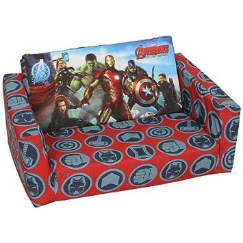 Disney Marvel Lit Flip Chaise Avengers Out Enfants Canapé Mousse HDIE29