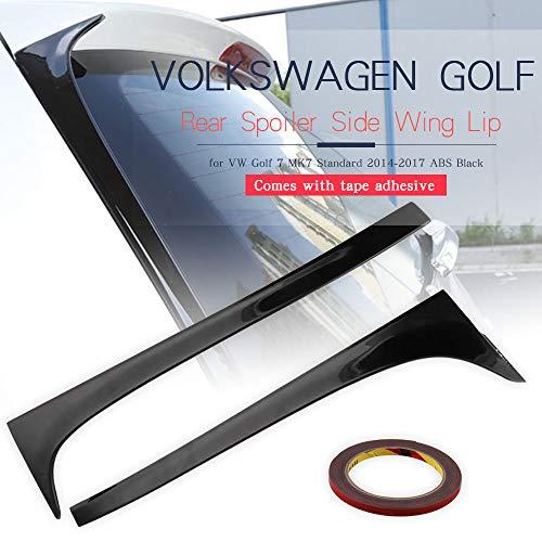 Ruien Rear Spoiler Side Wing Lip for VW Golf 7 MK7 Standard 2014-2017 ABS - Rear Vw Spoiler