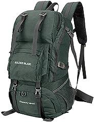 Houshome Mochila 45L para acampamento e caminhada Pacote de montanhismo de grande capacidade Mochila de viagem