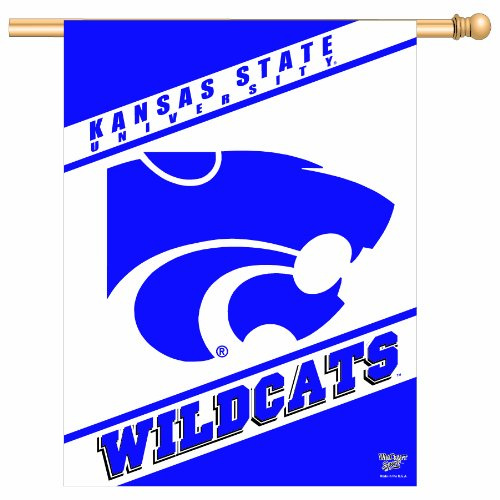 NCAA Kansas State Wildcats 27-by-37 inch Vertical Flag