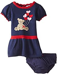 Baby-Girls Newborn Bear Sweater Dress and Panty Set
