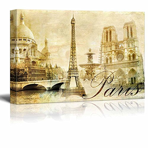 Amazing Paris Vintage Clipart (Eiffel) Wall Decor ation