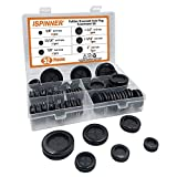 ISPINNER 52pcs 6 Sizes Rubber Grommet, Double Sided