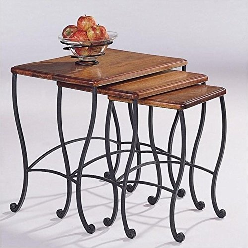 coaster-nesting-tables-black-iron-base-frame-with-rustic-oak-wood-3-piece-set