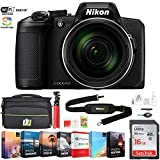 Nikon COOLPIX B600 16MP 60x Optical Zoom Digital Camera w/Built-in Wi-Fi (26528) - Black w/ 16GB Deluxe Accessory Bundle Includes Deco Gear Camera Bag and Photo and Video Professional Editing Suite