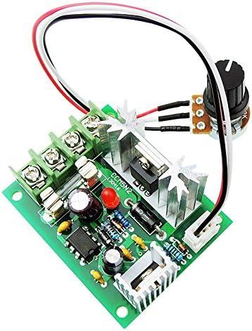 Uniquegoods 12V 24V 30V 5A DC Controlador de velocidad del motor Regulador de velocidad variable ajustable PWM 120W Control de controlador de velocidad CCM5