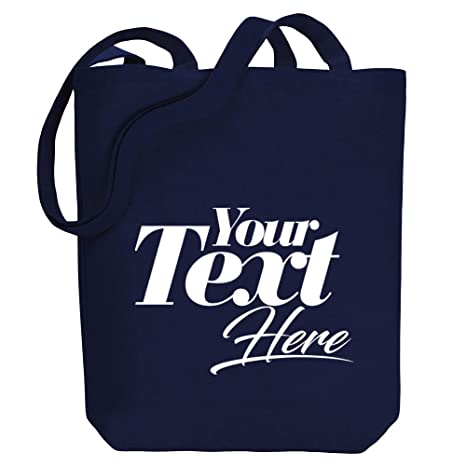 Amazon com | Idakoos - Personalized Canvas Tote Bag Add Your