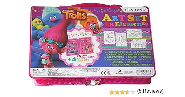 trolls - Trolls 18561. Estuche de arte con 68 piezas.: Amazon.es: Juguetes y juegos