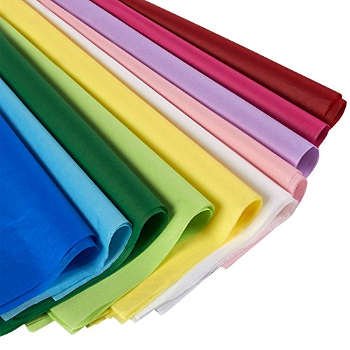 Juvale Tissue Paper Gift Wrap in Bulk 120-Pack - Perfect for Gift Bags, DIY Crafts, 19.7 x 26 Inches - Assorted Colors ()
