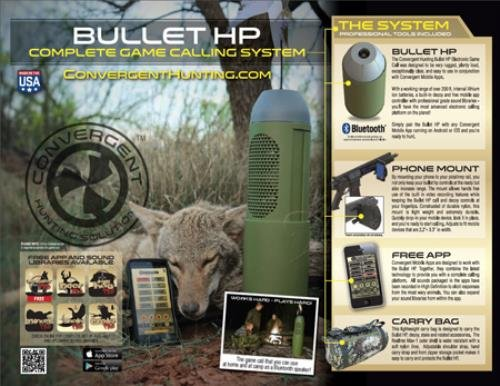 Convergent Hunting Bullet HP Complete Bluetooth Calling System from Convergent Hunting