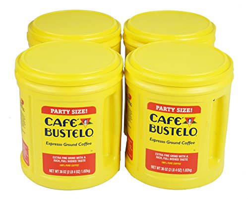 Cafe Bustelo Coffee Espresso, 36 Ounce, 4 Count (Pack of 4)