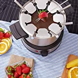 Fondue Pot Electric, 12-Cup Stainless Steel, 8