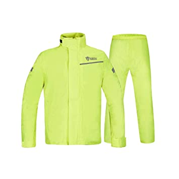 MMLI-Chubasqueros Chaqueta Impermeable y Pantalones de Lluvia para Adultos, con Doble Capa Impermeable