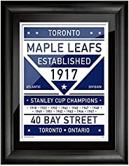 Toronto Maple Leafs 12x16 Dual Tone Framed Artwork