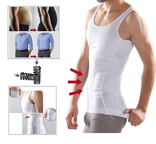 1d04980f61 Mens Slimming Body Shaper Undershirt Vest Shirt Abs Abdomen Shaperware