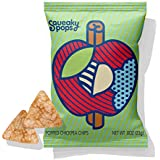 SQUEAKY POPS Chickpea Chips, Non-GMO, Gluten Free, Healthy Snacks, Apple Cinnamon (12 bags, 0.8oz each)
