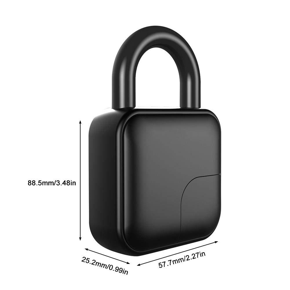 Qinlorgo Candado con Huella Digital Antirrobo Smart Security Lock