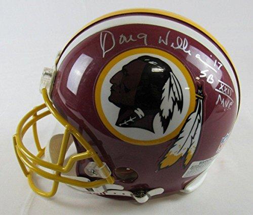 Doug Williams Autographed Helmet - Riddell Proline FS w SB XXI - Autographed NFL Helmets